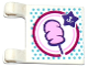 Part No: 2335pb161  Name: Flag 2 x 2 Square with Cotton Candy and Star Shaped Price Tag Pattern on Both Sides (Stickers) - Set 41133