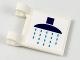 Part No: 2335pb170  Name: Flag 2 x 2 Square with Dark Purple Rainhead Shower and Dark Azure Drops Pattern (Sticker) - Set 41313
