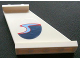 Part No: 2340pb020R  Name: Tail 4 x 1 x 3 with Dark Blue, Medium Blue and Red Wave Pattern on Right Side (Sticker) - Set 4642