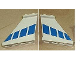 Part No: 2340pb021  Name: Tail 4 x 1 x 3 with Blue Stripes Pattern on Both Sides (Stickers) - Set 8824