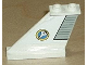 Part No: 2340pb024L  Name: Tail 4 x 1 x 3 with Light Gray Flap and Space Shuttle Logo Pattern on Left Side (Sticker) - Set 6465