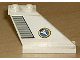 Part No: 2340pb024R  Name: Tail 4 x 1 x 3 with Light Gray Flap and Space Shuttle Logo Pattern on Right Side (Sticker) - Set 6465