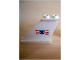 Part No: 2340pb025L  Name: Tail 4 x 1 x 3 with Coast Guard Logo Pattern on Left Side (Sticker) - Set 6353