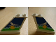 Part No: 2340pb031B  Name: Tail 4 x 1 x 3 with White Airplane over Sun and Clouds Pattern on Both Sides (Stickers) - Set 1818