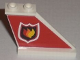 Part No: 2340pb037R  Name: Tail 4 x 1 x 3 with Fire Logo Badge on Red Background Pattern on Right Side (Sticker) - Set 7206