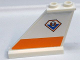 Part No: 2340pb042L  Name: Tail 4 x 1 x 3 with Coast Guard Pattern on Left Side (Sticker) - Set 7738