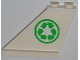Part No: 2340pb045L  Name: Tail 4 x 1 x 3 with Recycling Arrows on Left Side Pattern (Sticker) - Set 4432