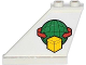 Part No: 2340pb047L  Name: Tail 4 x 1 x 3 with Box and Arrows and Globe Pattern on Left Side (Sticker) - Set 60021