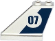 Part No: 2340pb056L  Name: Tail 4 x 1 x 3 with Dark Blue Stripe and '07' in White Circle Pattern on Left Side (Sticker) - Set 60069