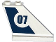 Part No: 2340pb056R  Name: Tail 4 x 1 x 3 with Dark Blue Stripe and '07' in White Circle Pattern on Right Side (Sticker) - Set 60069