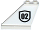 Part No: 2340pb059L  Name: Tail 4 x 1 x 3 with Black '02' Badge Outlined Pattern on Left Side (Sticker) - Set 60129