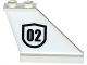 Part No: 2340pb059R  Name: Tail 4 x 1 x 3 with Black '02' Badge Outlined Pattern on Right Side (Sticker) - Set 60129