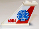 Part No: 2340pb065L  Name: Tail 4 x 1 x 3 with EMT Star of Life and '60116' on Red and White Background Pattern on Left Side (Sticker) - Set 60116