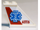 Part No: 2340pb065R  Name: Tail 4 x 1 x 3 with EMT Star of Life and '60116' on Red and White Background Pattern on Right Side (Sticker) - Set 60116