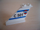 Part No: 2340px2  Name: Tail 4 x 1 x 3 with 'C 501' and Coast Guard Logo over Triangle Pattern on Left Side