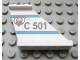 Part No: 2340px3  Name: Tail 4 x 1 x 3 with 'C 501' and Coast Guard Logo over Triangle Pattern on Right Side