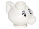 Part No: 23986pb01  Name: Minifigure, Utensil Teapot with Face with Black Eyebrows and Eyelashes and Lavender Eye Shadow Pattern (Mrs. Potts)