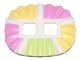 Part No: 24087pb01  Name: Minifigure, Skirt Plastic, Ruffled (Ballerina Tutu) with Bright Pink, Bright Light Yellow and Yellowish Green Panels Pattern