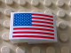 Part No: 24309pb006  Name: Slope, Curved 3 x 2 No Studs with United States Flag Pattern