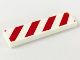 Part No: 2431p02  Name: Tile 1 x 4 with Red and White Danger Stripes Red Pattern