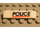 Part No: 2431pb038  Name: Tile 1 x 4 with 'POLICE' Red Line Pattern (Sticker) - Set 6398