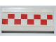 Part No: 2440pb015  Name: Hinge Panel 6 x 3 with Red and White Checkered Pattern (Sticker) - Set 3181