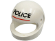 Part No: 2446px2  Name: Minifigure, Headgear Helmet Standard with 'POLICE' Red Line Pattern