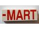 Part No: 2454pb133R  Name: Brick 1 x 2 x 5 with Red '-MART' Pattern (Sticker) - Set 71016