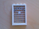 Part No: 2493c01pb05  Name: Window 1 x 4 x 5 with Trans-Clear Glass with Sheriff Pattern (Sticker) - Sets 6755 / 6764