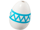 Part No: 24946pb01  Name: Egg with Hole on Top with Medium Azure Zigzag Pattern
