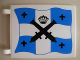 Part No: 2525px2s  Name: Flag 6 x 4 with Crossed Cannons over Blue and White Cross Pattern on Both Sides (Stickers)