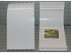 Part No: 2572pb03  Name: Panel 6 x 6 x 9 Curved Top with Shuttle Route Map Pattern on Inside (Sticker) - Set 6399