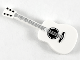 Part No: 25975pb02  Name: Minifigure, Utensil Guitar Acoustic with Silver Strings, Black Tuning Knobs Pattern