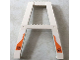 Part No: 2635pb08  Name: Support Crane Stand Double with Black Arrow in Circle on Orange Background Pattern (Stickers) – Set 7690