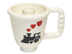 Part No: 27383pb02  Name: Duplo Utensil Ice Cup with Steam Train and Hearts Pattern