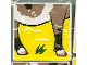 Part No: 2756pb017  Name: Duplo Tile 2 x 2 x 1 with Goat Mosaic Picture 17 Pattern (Set 1078)