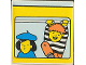 Part No: 2756pb110  Name: Duplo Tile 2 x 2 x 1 with Community Mosaic Picture 02 Pattern (Set 9221)