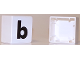 Part No: 2756pb337  Name: Duplo Tile 2 x 2 with Lowercase b Pattern (Set 1018)