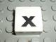Part No: 2756pb359  Name: Duplo Tile 2 x 2 with Lowercase 'x' Pattern (Set 1018)