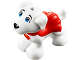 Part No: 28325pb01  Name: Dog, Small Super Hero with Blue Eyes, Red Cape and Superman 'S' Logo Pattern (Krypto)