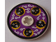 Part No: 2958pb021  Name: Technic, Disk 3 x 3 with Black Cyber Heads on Purple Pattern (Sticker)