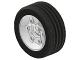 Part No: 2998c01  Name: Wheel 81.6 x 34 Six Spoke with Black Tire 81.6 x 34 ZR Technic Straight Tread (2998 / 2997)