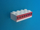Part No: 3001oldpb05  Name: Brick 2 x 4 with Plane Windows 8 in Thick Red Stripe Pattern