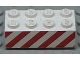 Part No: 3001pb006  Name: Brick 2 x 4 with Angled Red Stripes Pattern