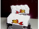 Part No: 3001pb025  Name: Brick 2 x 4 with Fish Pattern on Both Sides (Stickers) - Set 4178