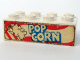 Part No: 3001pb035  Name: Brick 2 x 4 with Popcorn with 3 White Stripes on Bag Pattern both sides (Stickers) - Set 6390
