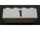 Part No: 3001pb071  Name: Brick 2 x 4 with Black '1' Pattern (Sticker) - Set 8672