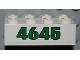 Part No: 3001pb084  Name: Brick 2 x 4 with Green '4645' on White Background Pattern (Sticker) - Set 4645