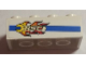 Part No: 3001pb102L  Name: Brick 2 x 4 with Blue Line and Flaming Wrench 'BSC' Pattern Model Left Side (Sticker) - Set 8681