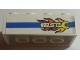 Part No: 3001pb102R  Name: Brick 2 x 4 with Blue Line and Flaming Wrench 'BSC' Pattern Model Right Side (Sticker) - Set 8681